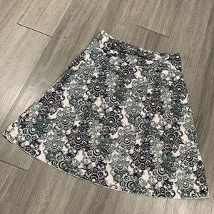 Tranquility A-Line Black & White Printed Skirt